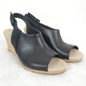 Clarks Collection Lafley Jess Wedges Size 10